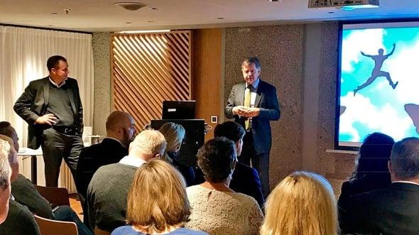 """Fra seminaret """"Våg å ta risiko!"""" som Advokatfirmaet Ræder og Interimleder AS arrangerte 24. oktober 2017."""