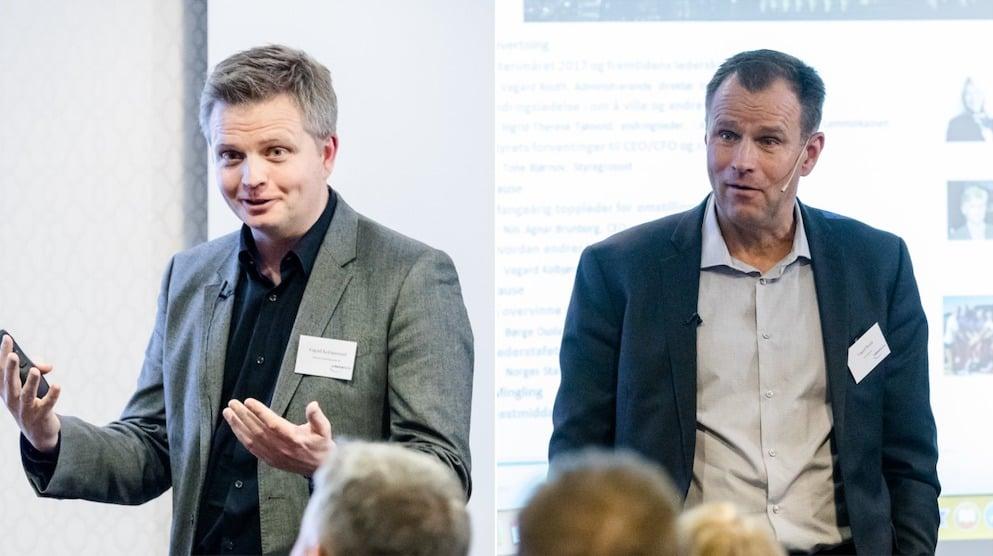 Vegard Rooth og Vegard Kolbjørnsrud på Interimdagen 2018