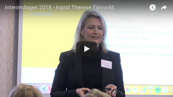 Video fra Interimdagen 2018 - Ingrid Therese Tjøsvold
