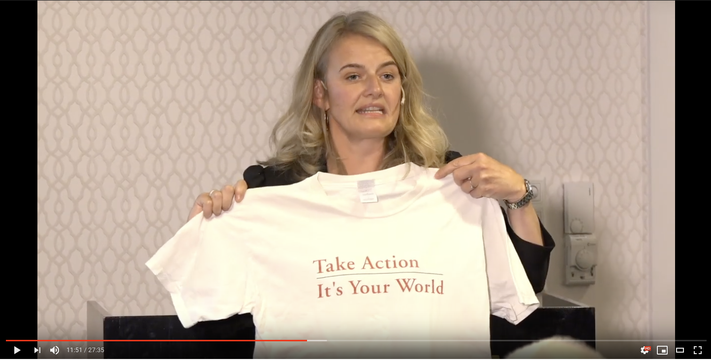 FNs tusenårsmål Ingunn Midttun Godal t-skjorte