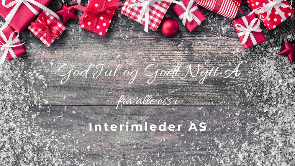 God jul fra Interimleder 2019